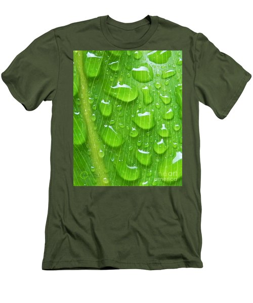 Men's T-Shirt (Slim Fit) featuring the photograph A Cleansing Morning Rain by Robert ONeil
