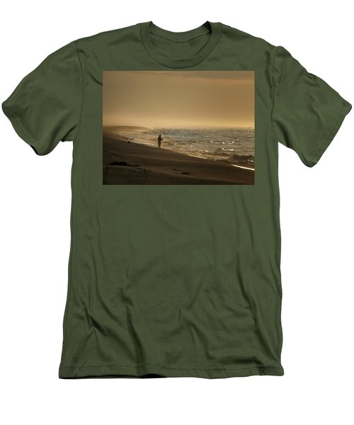 Men's T-Shirt (Slim Fit) featuring the photograph A Fisherman's Morning by GJ Blackman