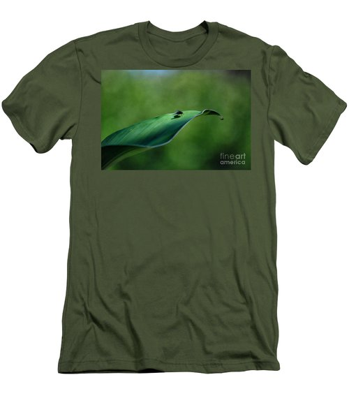 Men's T-Shirt (Slim Fit) featuring the photograph A Fly And His Shadow by Thomas Woolworth
