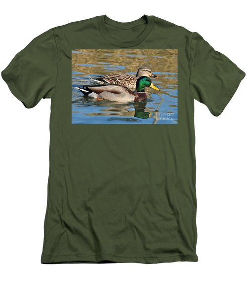 Men's T-Shirt (Slim Fit) featuring the photograph A Handsome Pair by Kathy Baccari