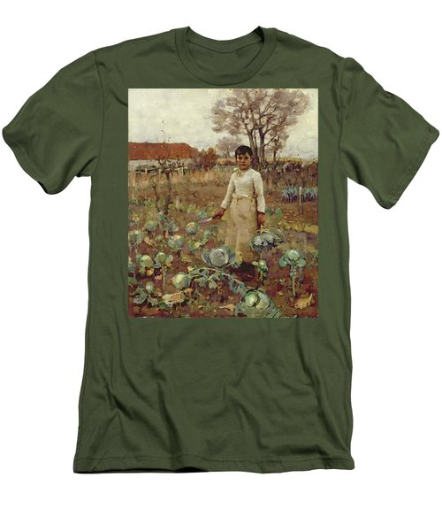 A Hinds Daughter, 1883 Oil On Canvas Men's T-Shirt (Slim Fit) by Sir James Guthrie
