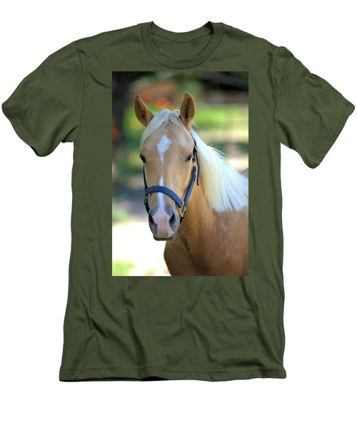 Men's T-Shirt (Slim Fit) featuring the photograph A Loyal Friend by Gordon Elwell