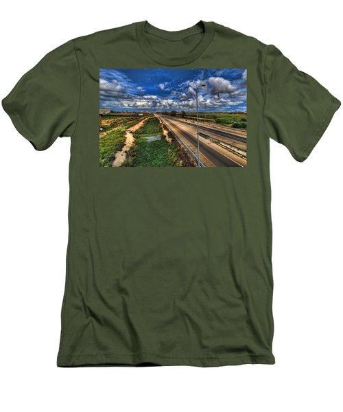 Men's T-Shirt (Slim Fit) featuring the photograph a majestic springtime in Israel by Ron Shoshani