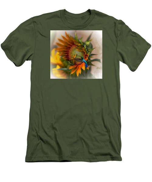 Men's T-Shirt (Slim Fit) featuring the photograph A Moment In Time by John  Kolenberg