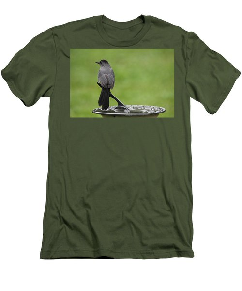 Men's T-Shirt (Slim Fit) featuring the photograph A Moment In Time by Trina  Ansel