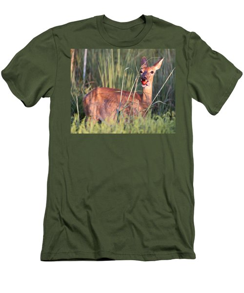 Men's T-Shirt (Slim Fit) featuring the photograph A Mouth Full by Elizabeth Winter