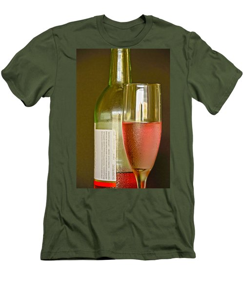 A Nice Glass Of Wine Men's T-Shirt (Slim Fit) by Charles Beeler