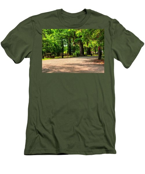 Men's T-Shirt (Slim Fit) featuring the photograph A Place For Picnic by Ester  Rogers