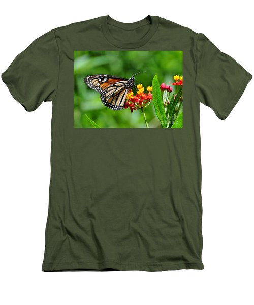 Men's T-Shirt (Slim Fit) featuring the photograph A Place To Settle Down by Kathy Baccari