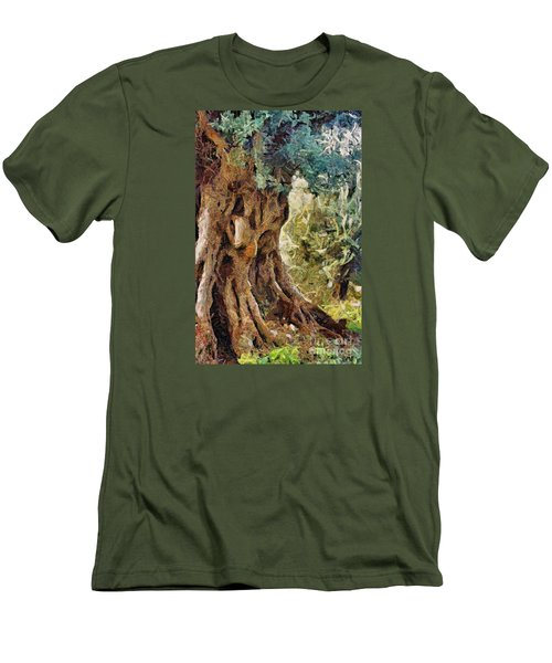 A Really Old Olive Tree Men's T-Shirt (Slim Fit) by Dragica  Micki Fortuna