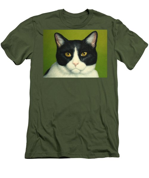 A Serious Cat Men's T-Shirt (Slim Fit) by James W Johnson