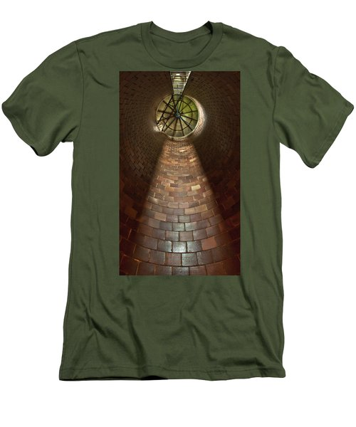 Men's T-Shirt (Slim Fit) featuring the photograph A Silo Of Light From Above by Jerry Cowart