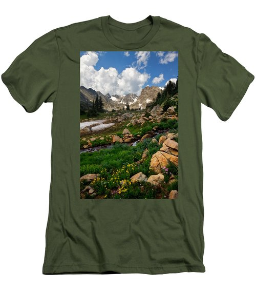 Men's T-Shirt (Slim Fit) featuring the photograph A Stream Runs Through It by Ronda Kimbrow