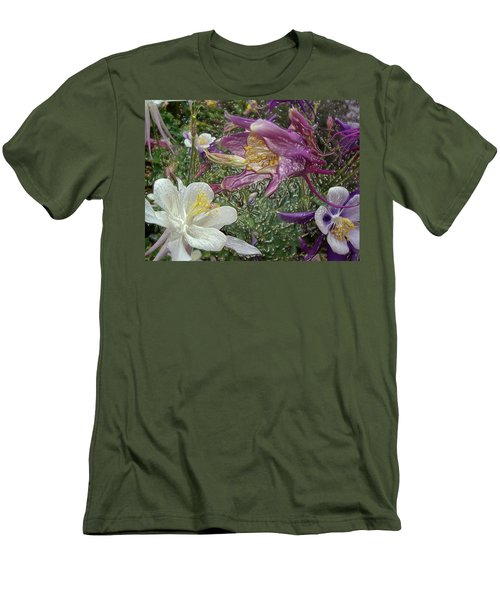 a taste of dew i do and PCC  garden too     GARDEN IN SPRING MAJOR Men's T-Shirt (Athletic Fit)