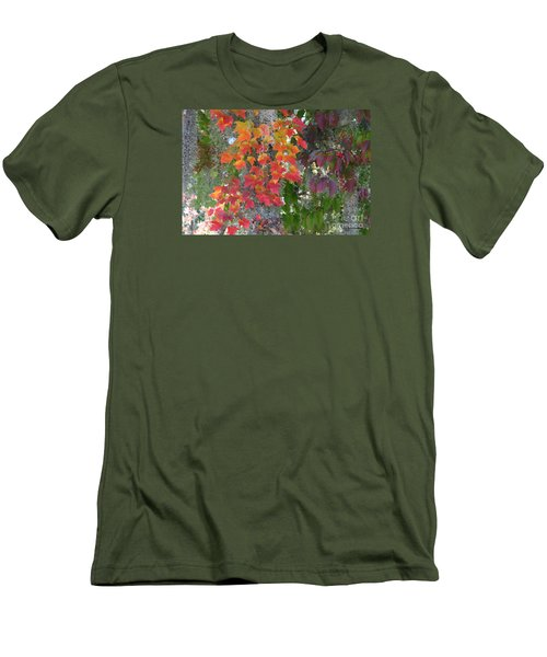 A Touch Of Autumn Men's T-Shirt (Slim Fit) by Mariarosa Rockefeller