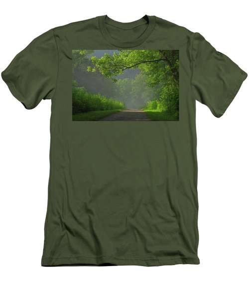 A Touch Of Green Men's T-Shirt (Athletic Fit)
