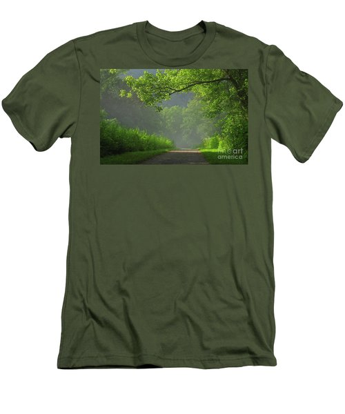 A Touch Of Green II Men's T-Shirt (Athletic Fit)