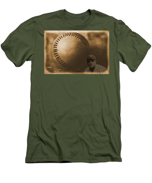 A Tribute To Babe Ruth And Baseball Men's T-Shirt (Slim Fit) by Dan Sproul