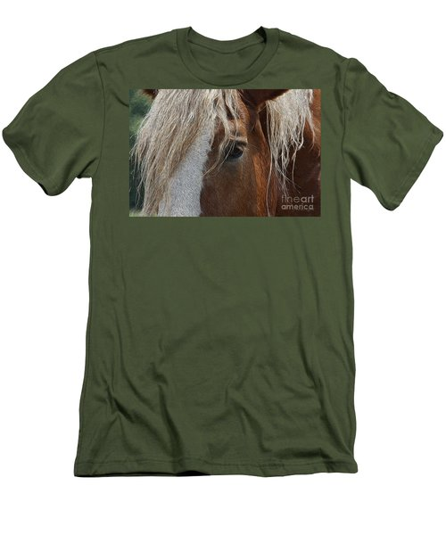 A Trusted Friend Men's T-Shirt (Slim Fit) by Yvonne Wright