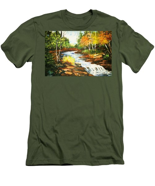 A Winding Creek In Autumn Men's T-Shirt (Athletic Fit)