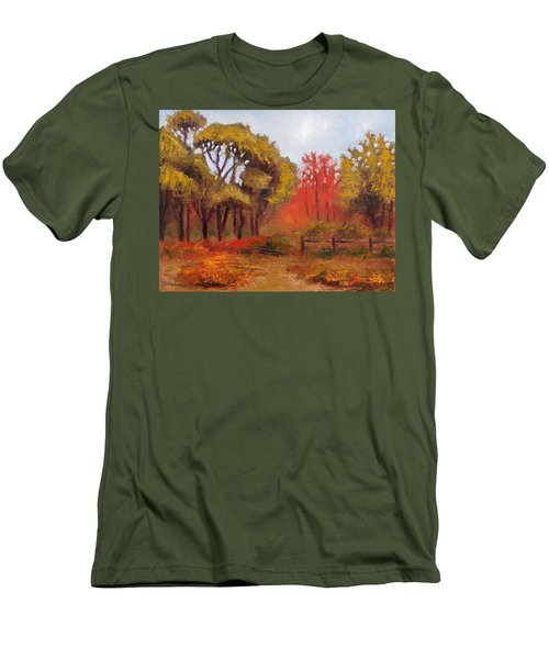 Men's T-Shirt (Slim Fit) featuring the painting Abeel Fields by Jason Williamson