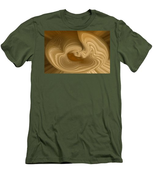 Men's T-Shirt (Slim Fit) featuring the photograph Abstract Design by Charles Beeler