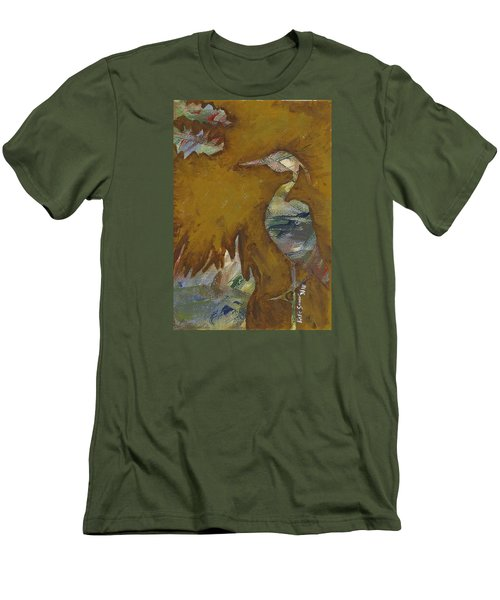 Abstract Heron Men's T-Shirt (Athletic Fit)
