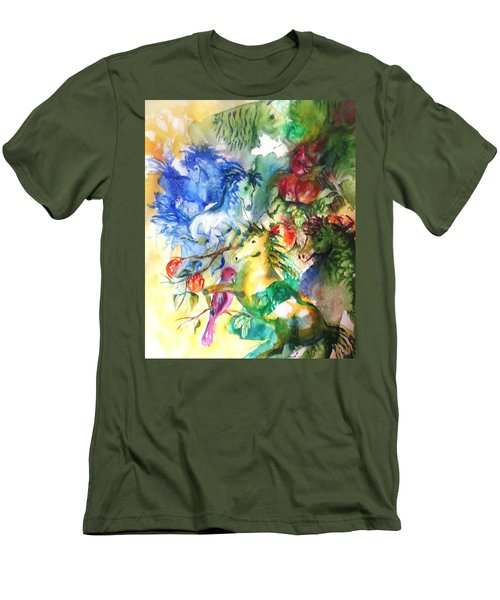 Abstract Horses Men's T-Shirt (Athletic Fit)