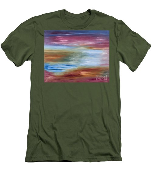 Abstract Seascape Men's T-Shirt (Athletic Fit)