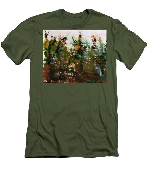 Abstrakt In Grun Men's T-Shirt (Athletic Fit)