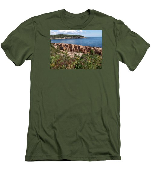 Acadia Maine Men's T-Shirt (Slim Fit) by Catherine Gagne