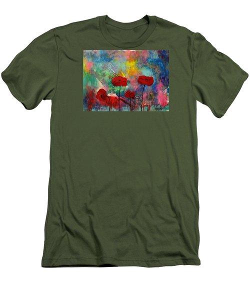 Acrylic Msc 078 Men's T-Shirt (Slim Fit) by Mario Sergio Calzi