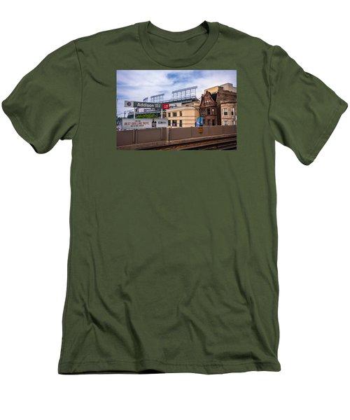 Addison Street Station Men's T-Shirt (Slim Fit) by Tom Gort