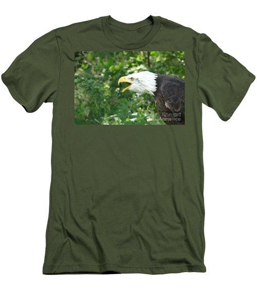 Men's T-Shirt (Slim Fit) featuring the photograph Adler Raptor Bald Eagle Bird Of Prey Bird by Paul Fearn