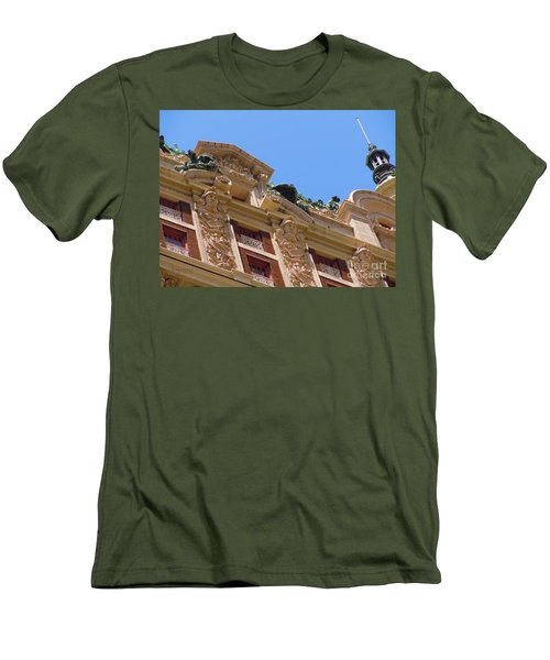 Men's T-Shirt (Slim Fit) featuring the photograph Adolphus Hotel - Dallas #2 by Robert ONeil