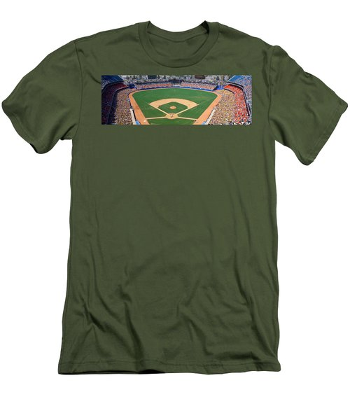 Aerial View Of A Stadium, Dodger Men's T-Shirt (Athletic Fit)