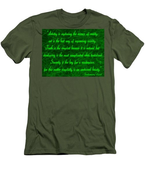 Aesthetic Quote 1 Men's T-Shirt (Athletic Fit)