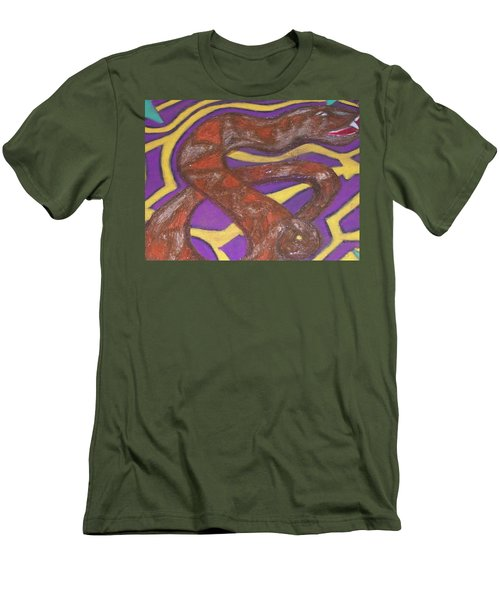 Men's T-Shirt (Slim Fit) featuring the painting African Snake Diety by Jonathon Hansen