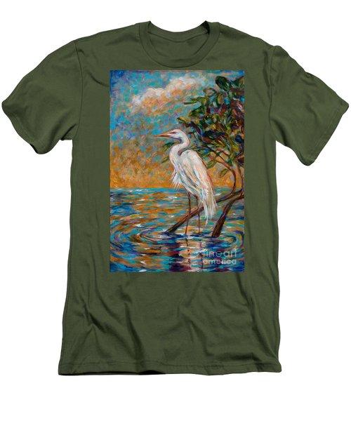 Afternoon Egret Men's T-Shirt (Athletic Fit)