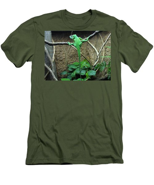 Men's T-Shirt (Slim Fit) featuring the photograph Afternoon Workout by Lingfai Leung