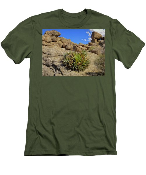 Men's T-Shirt (Slim Fit) featuring the photograph Against The Odds by Michael Pickett