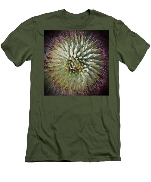 Agave Spikes Men's T-Shirt (Slim Fit) by Alan Socolik