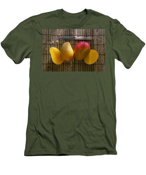 Agriculture - Sliced Sunrise Mango Men's T-Shirt (Slim Fit)