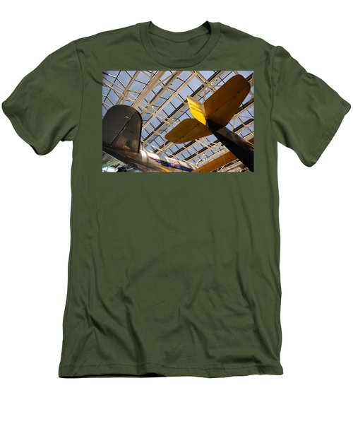 Airplane Rudders Men's T-Shirt (Athletic Fit)