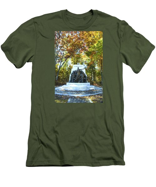 Alabama Monument At Gettysburg Men's T-Shirt (Slim Fit) by Paul W Faust -  Impressions of Light