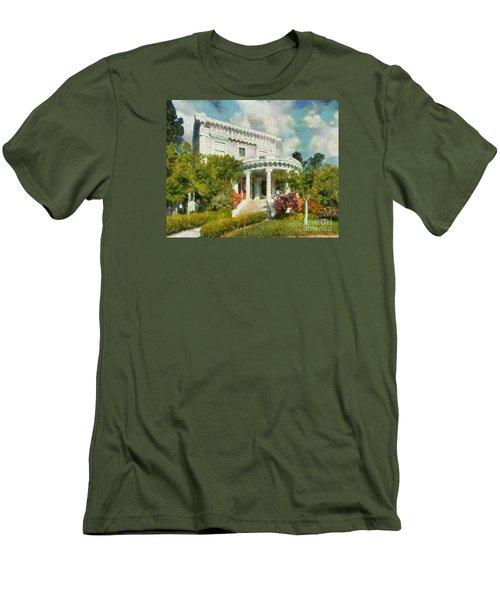 Alameda 1896-97 Colonial Revival Men's T-Shirt (Slim Fit) by Linda Weinstock