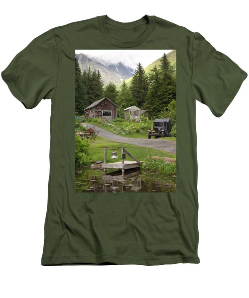 Alaskan Pioneer Mining Camp Men's T-Shirt (Athletic Fit)