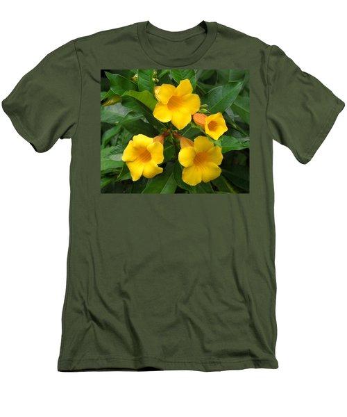 Allamanda Men's T-Shirt (Slim Fit) by Ron Davidson