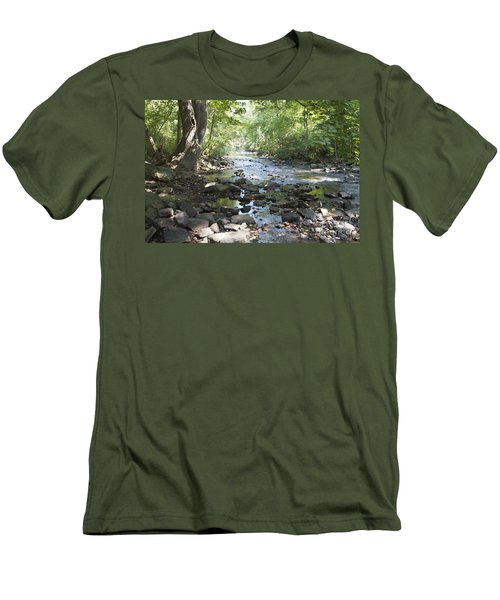 Men's T-Shirt (Slim Fit) featuring the photograph Allen Creek by William Norton