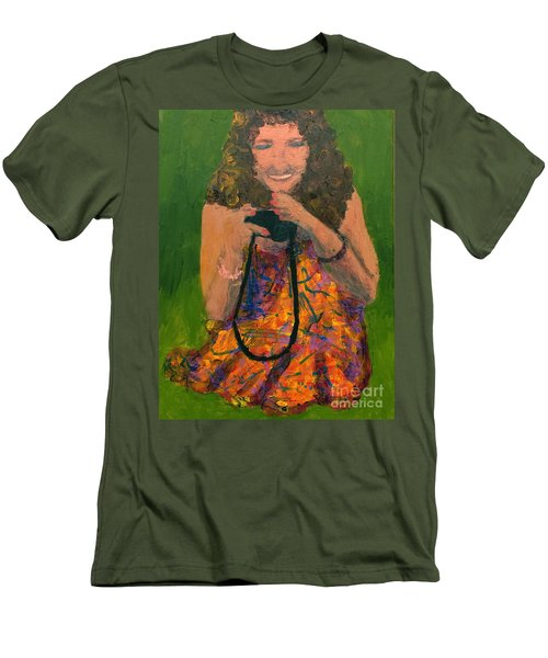 Men's T-Shirt (Slim Fit) featuring the painting Allison by Donald J Ryker III